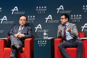 Remarks on the U.S.-Korea alliance and the future regional order, with vice foreign minister Kim Song Han and Anna Fifield from the Washington Post