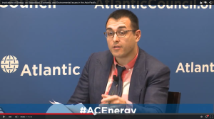 Discussing energy security in the Asia-Pacific at the Atlantic Council of the United States